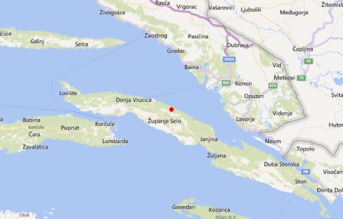 Umjeren potres na Pelješcu